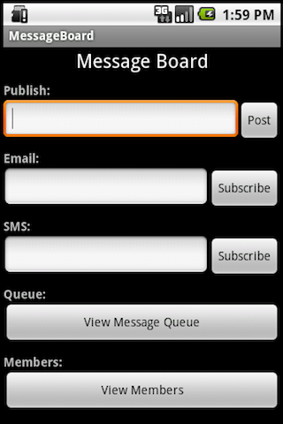 send sms from web application java