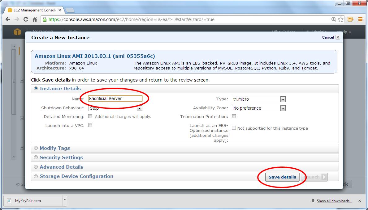 Accept default settings