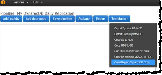 Copy DynamoDB Data Between Regions Using the AWS Data