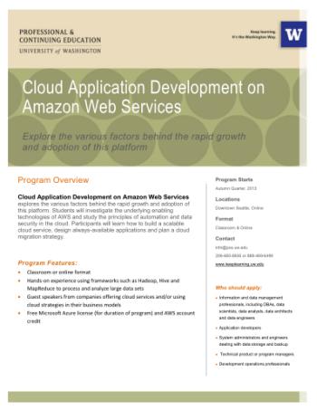 Cloud Application Development on AWS – UW Extension Course | AWS