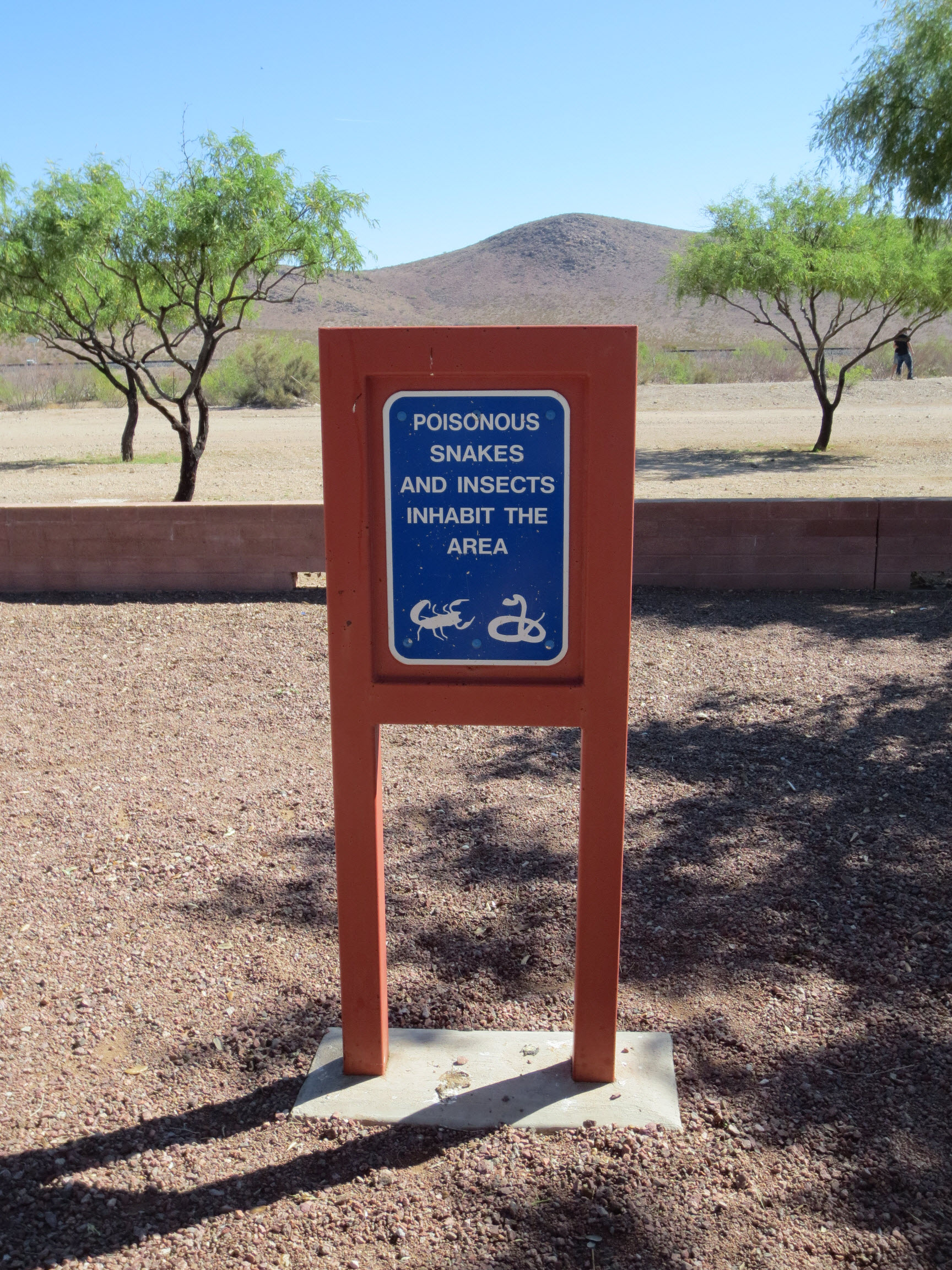 Rest Stop Warning