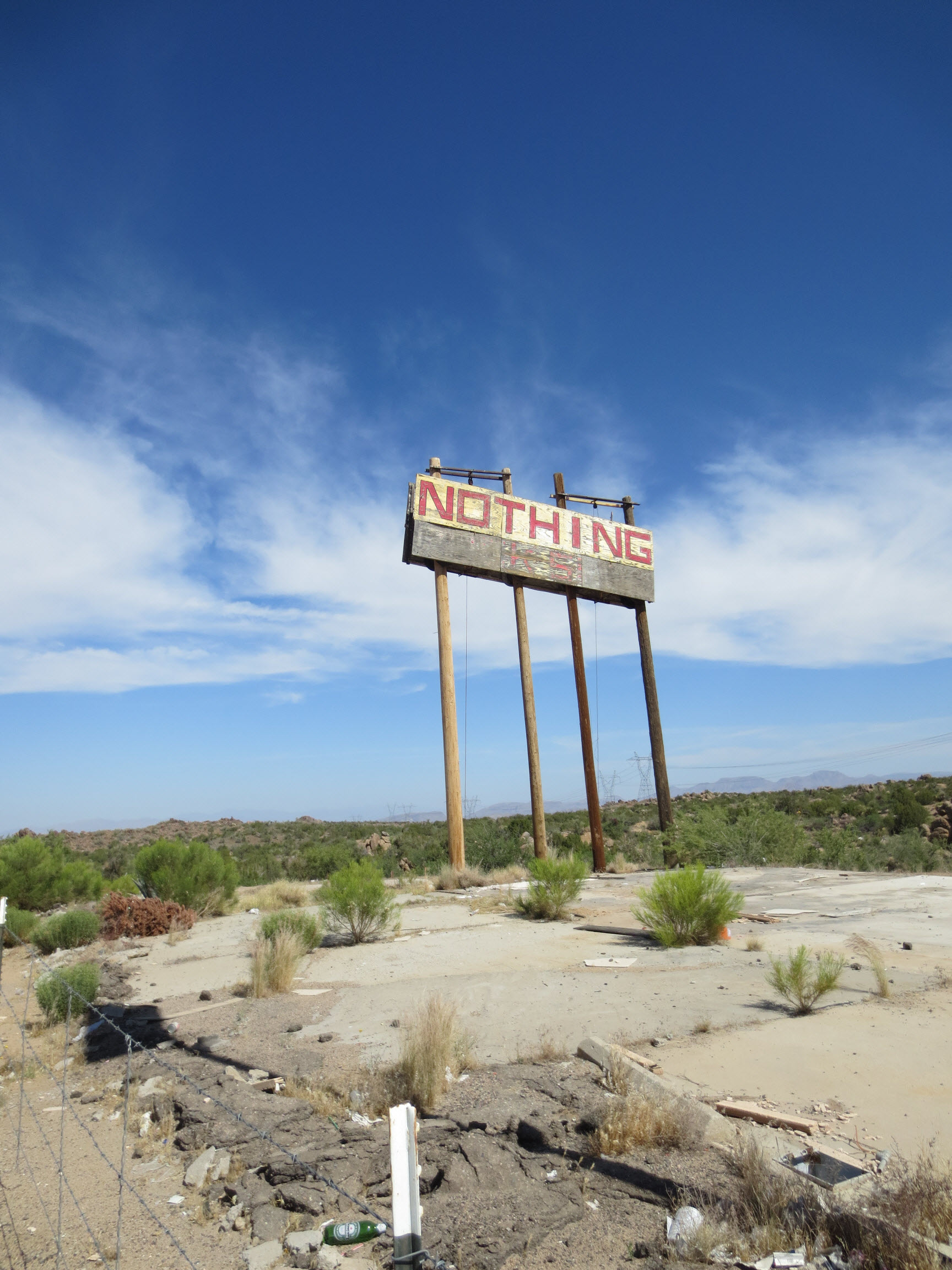 Nothing, Arizona Sign