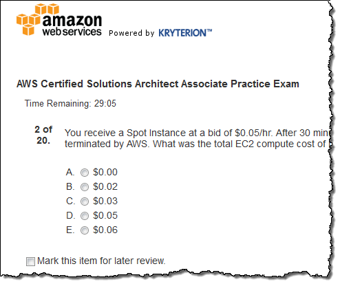 New practice exams for aws certification aws news blog new practice exams for aws certification malvernweather Choice Image