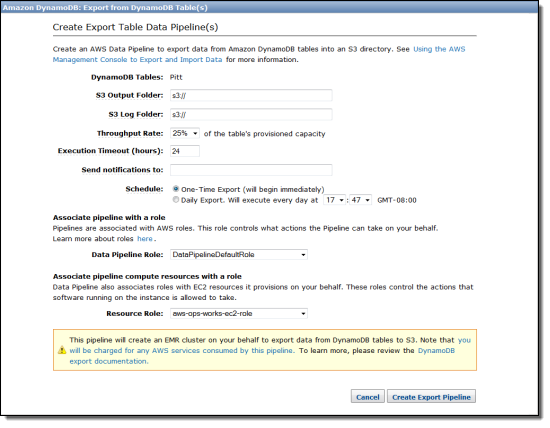 Cross-Region Export and Import of DynamoDB Tables | AWS News