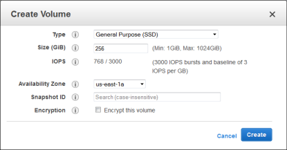 Enhanced Throughput for Provisioned IOPS (SSD) and General