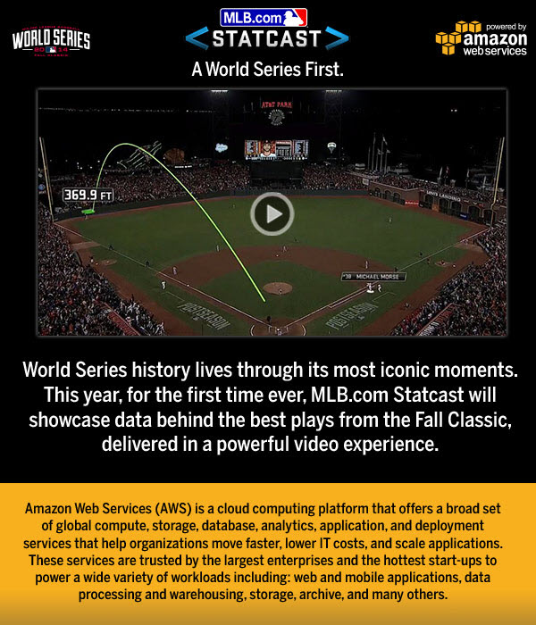 MLB com Statcast Debuts at the World Series – Powered by AWS | AWS