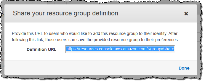 resource groups share
