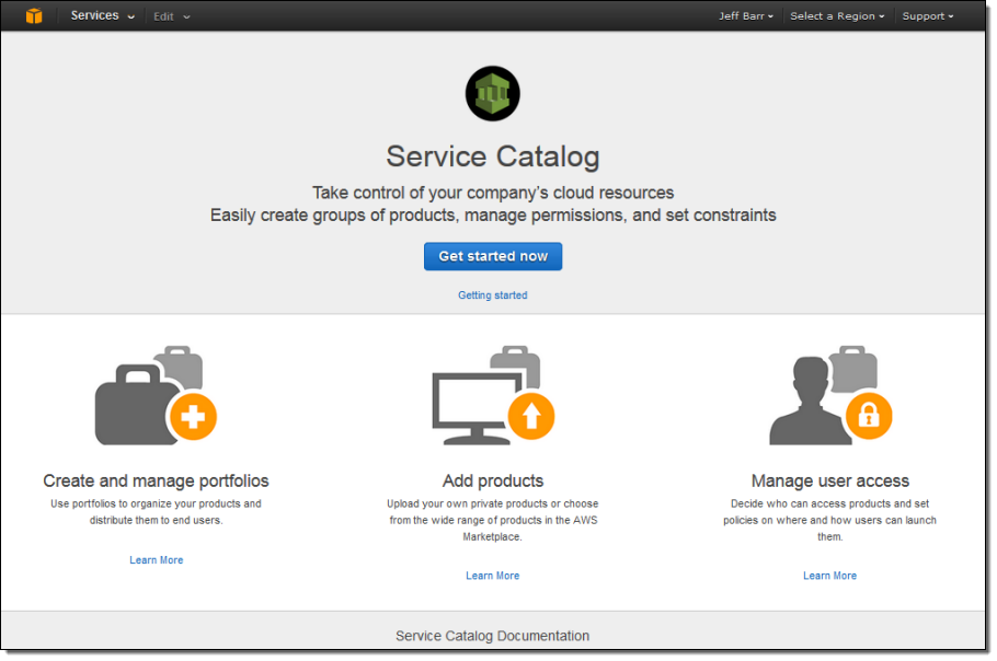 Coming Soon – AWS Service Catalog | AWS Blog