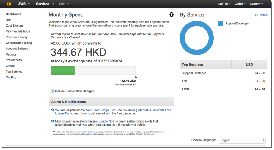 New – Set Preferred Payment Currency for your AWS Account  AWS