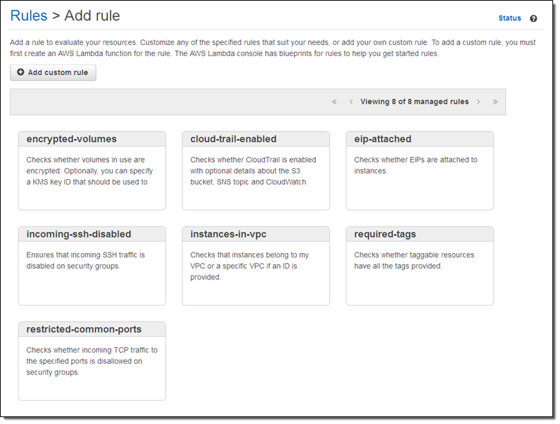 AWS Config Rules – Dynamic Compliance Checking for Cloud