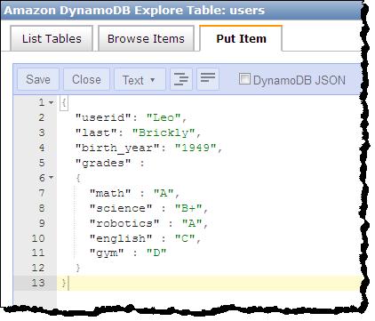 DynamoDB Update – Improved JSON Editing & Key Condition