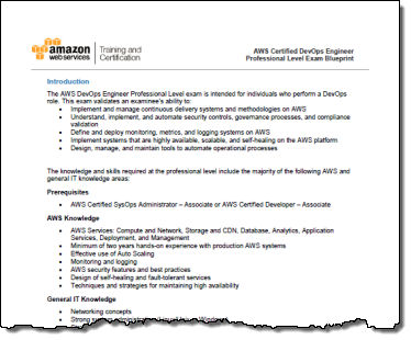 New aws certification for devops engineers aws news blog new aws certification for devops engineers malvernweather Gallery