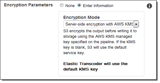 Elastic Transcoder Update – AES-128 Encryption for HLS
