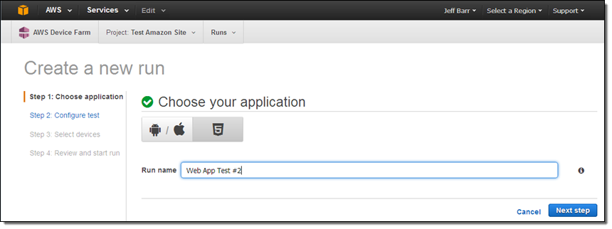 AWS Device Farm Update – Test Web Apps on Mobile Devices | AWS News Blog
