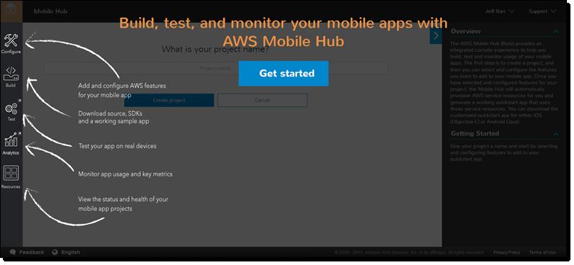 AWS Mobile Hub – Build, Test, and Monitor Mobile