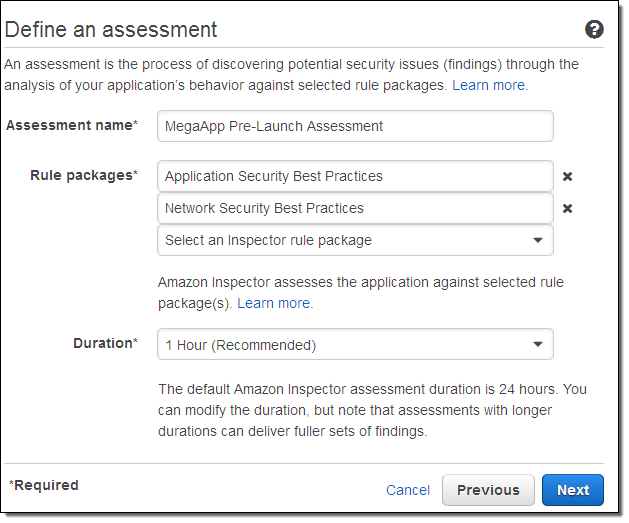 Amazon Inspector Automated Security Assessment Service Aws News Blog Assessment (countable and uncountable, plural assessments). amazon inspector automated security