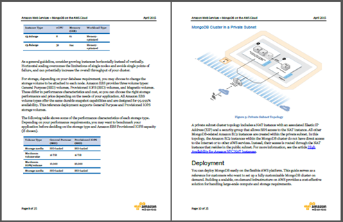 database documentation template - amazon web services mongodb on the aws cloud