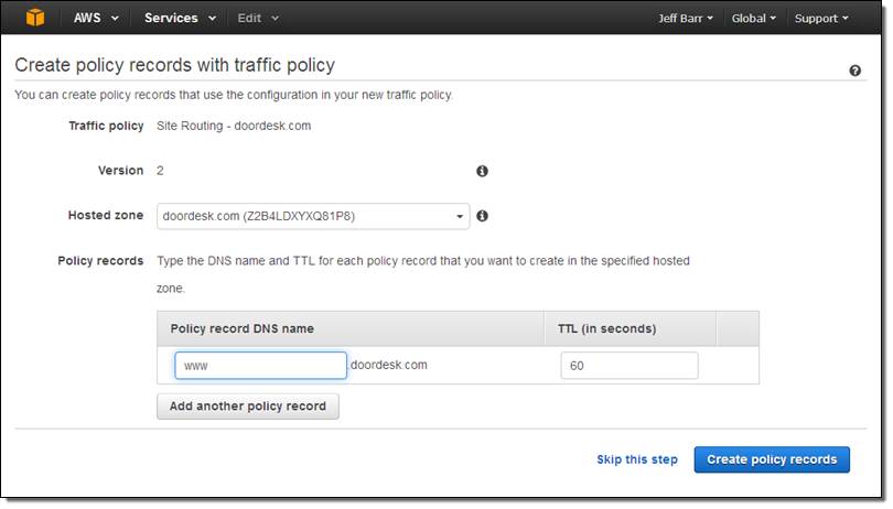 New – Route 53 Traffic Flow | AWS News Blog