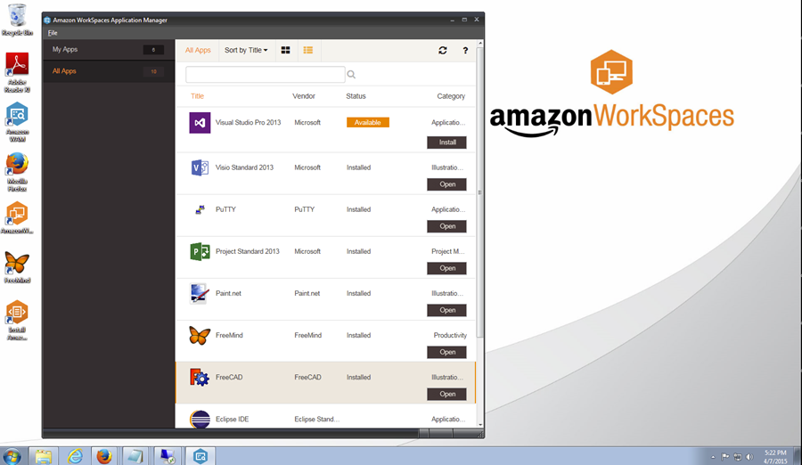 amazon web services ブログ aws発表 新サービス amazon workspaces