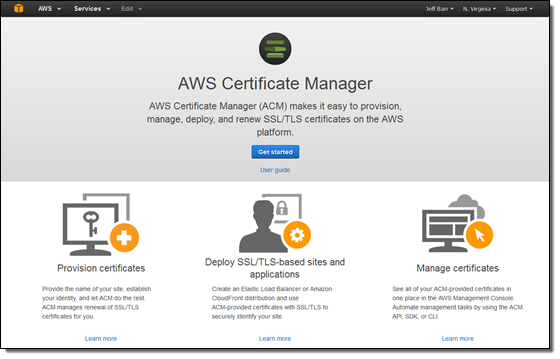 new – aws certificate manager – deploy ssl/tls-based apps on aws