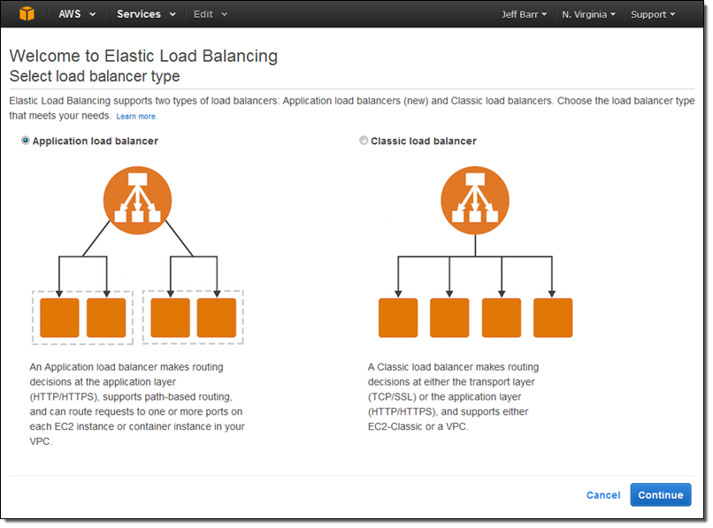 how to create a load balancer in aws