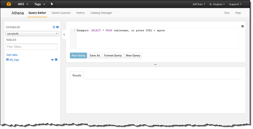 Amazon Athena – Interactive SQL Queries for Data in Amazon