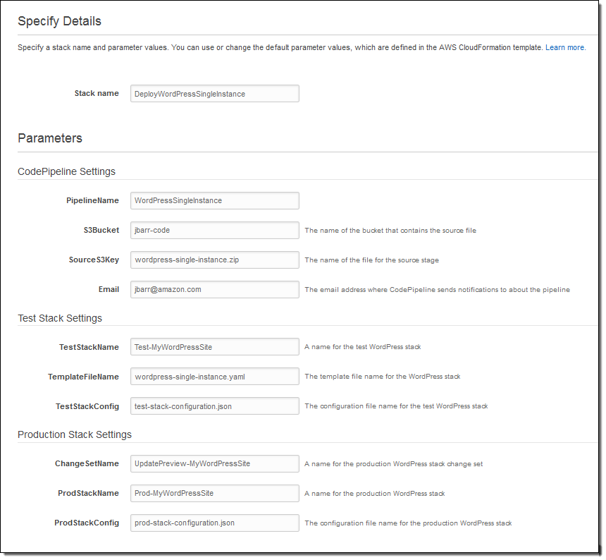 Adventure through the amazon codepipeline update build for Cloudformation template generator