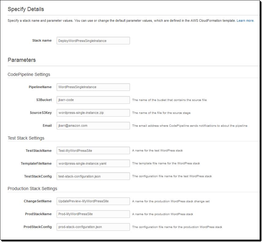 cloudformation template generator - adventure through the amazon codepipeline update build