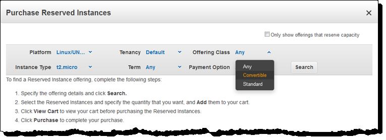 Réservations d'instances AWS convertibles