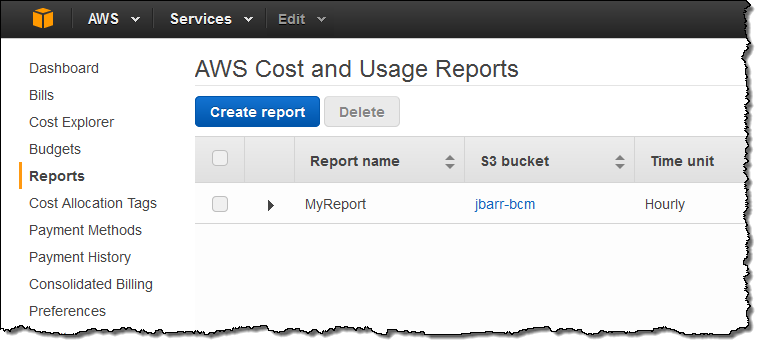 New upload aws cost usage reports to redshift and for Cost to build report