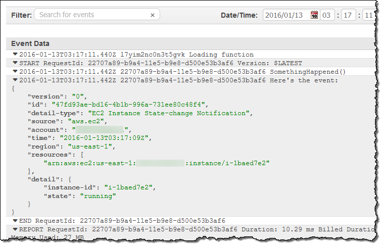 New CloudWatch Events – Track and Respond to Changes to Your AWS