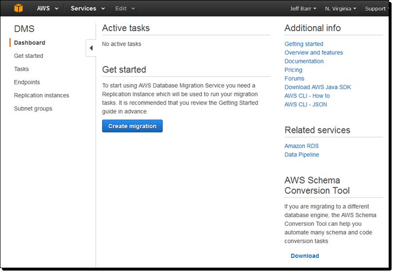 aws database migration service - Aws Resume Points