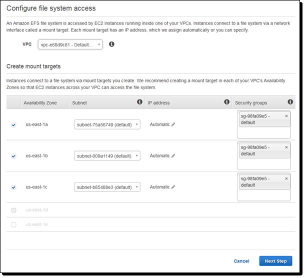 Amazon EFS Update – On-Premises Access via Direct Connect