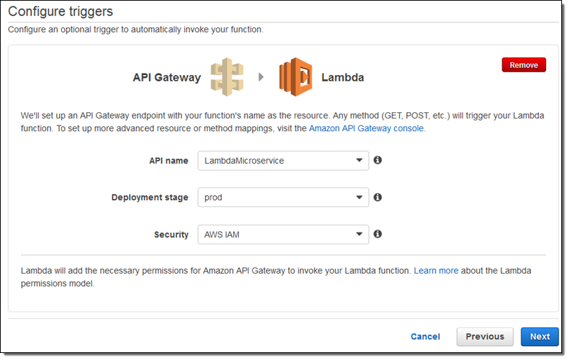 Amazon API Gateway et lambda