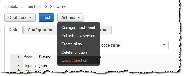 New for AWS Lambda – Environment Variables and Serverless