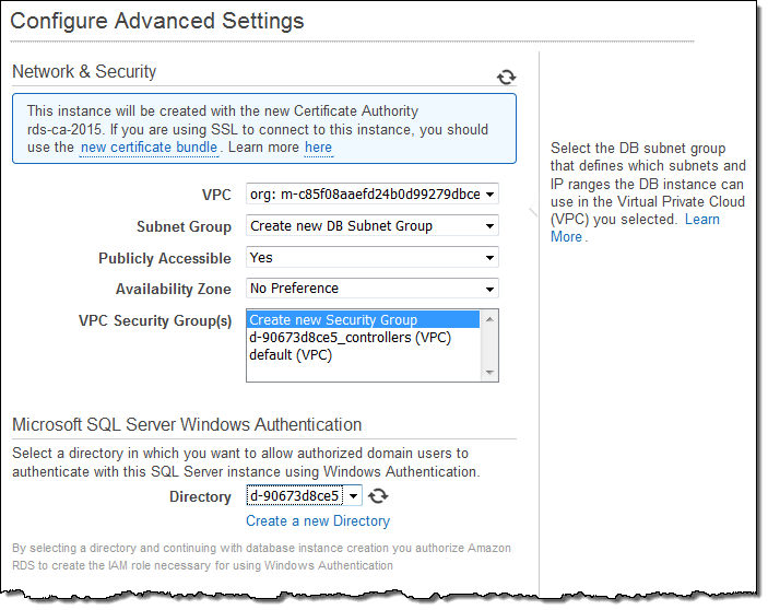 Amazon RDS for SQL Server – Support for Windows Authentication