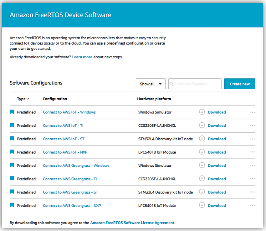 Announcing Amazon FreeRTOS – Enabling Billions of Devices to