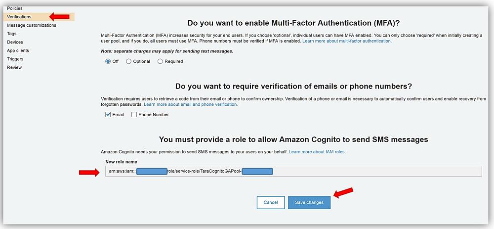 Amazon Cognito User Pools   Noise
