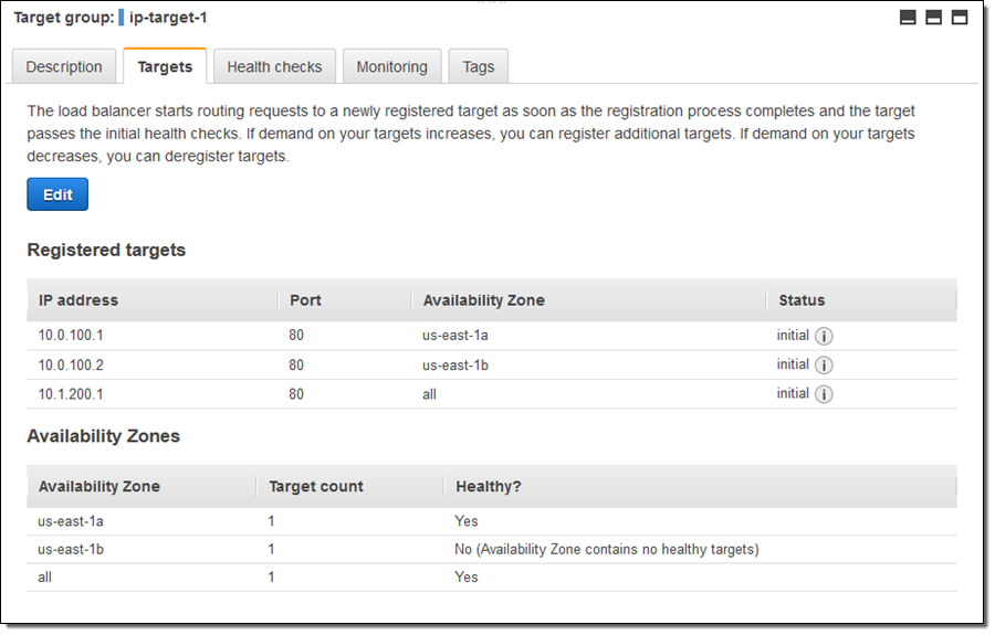New – Application Load Balancing via IP Address to AWS & On