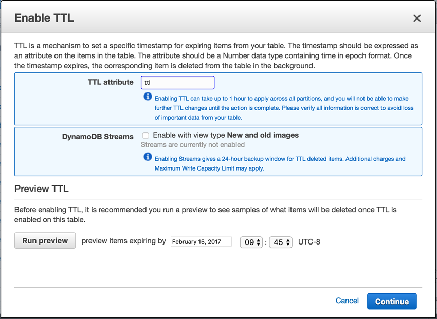 New – Manage DynamoDB Items Using Time to Live (TTL) | AWS