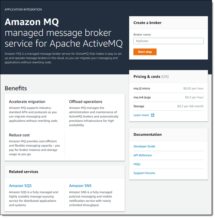 Amazon MQ – Managed Message Broker Service for ActiveMQ | AWS News Blog