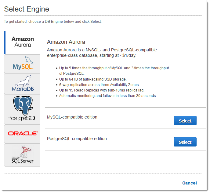 Now Available – Amazon Aurora with PostgreSQL Compatibility | AWS