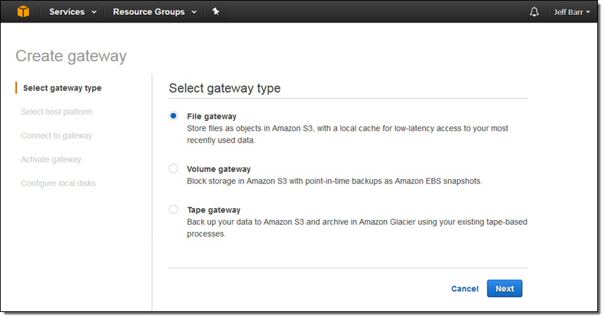 File Interface to AWS Storage Gateway | AWS News Blog