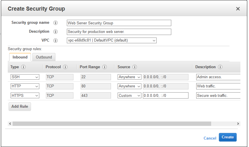 New – Descriptions for Security Group Rules | AWS News Blog
