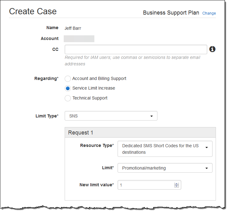 New – Send High-Volume SMS Messages from Dedicated Short Codes | AWS