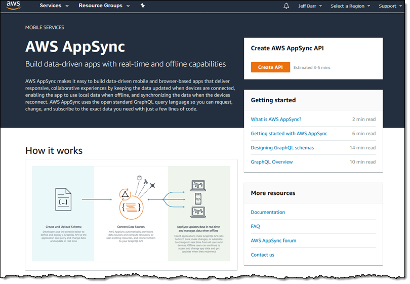 AWS AppSync – Production-Ready with Six New Features | AWS News Blog