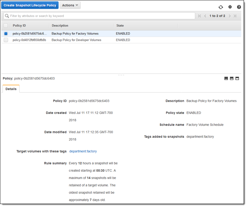 New – Lifecycle Management for Amazon EBS Snapshots | Stack