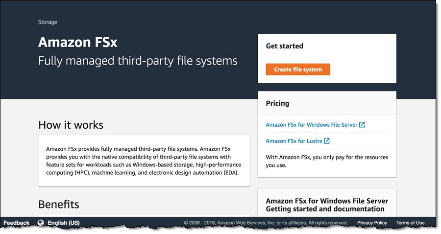 New – Amazon FSx for Windows File Server – Fast, Fully