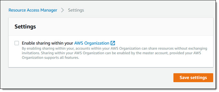 New AWS Resource Access Manager – Cross-Account Resource Sharing