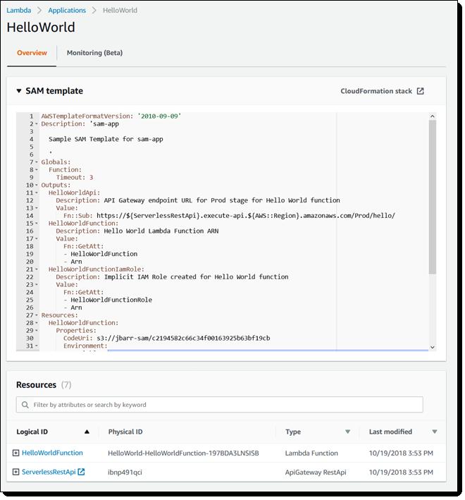 AWS Serverless Application Model (SAM) Command Line